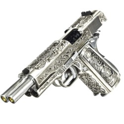 WE 1911 Dual Barrel GBB Pistol (Floral)