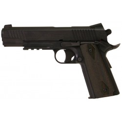 Pistolet Colt 1911 Rail Gun Blackened Co2 GNB NBB Noir - 180314