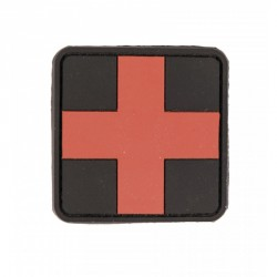 Patch 3D first aid noir/rouge