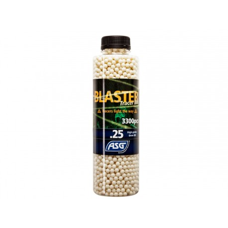 Bouteille 3300 Billes Airsoft 0.25g BLASTER TRACER ASG