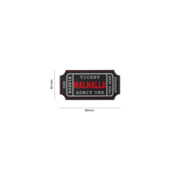 patch pvc Large Walhalla Ticket