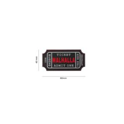 patch pvc Large Walhalla Ticket
