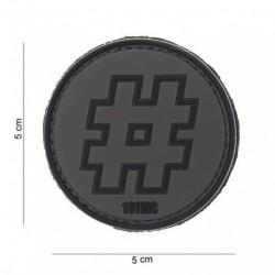 Patch 3D PVC Hashtag Noir