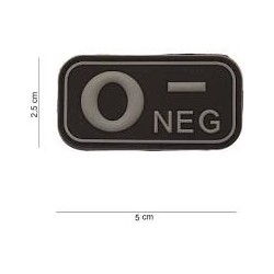 Patch PVC groupe sanguin noir
