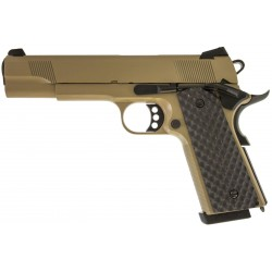 RÉPLIQUE GBB 1911 MEU RAVEN FULL METAL GAZ TAN 1,0 J