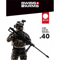 Billes SWISS ARMS Blanche 0.40gr sac 1000BBs