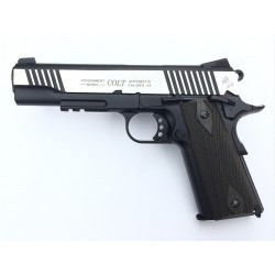 Colt 1911 rail gun CO2 bicolore