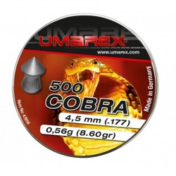 Plombs cobra umarex pointu cal 4.5mm x500