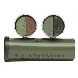 Stick camouflage facial (marron / vert)