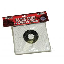 Cible carton (x50) 14 X 14 pour tir BBs 6mm & 4.5mm SWISS ARMS /C36