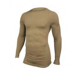 TEE-SHIRT TECHNICAL M.LONGUES COL ROND COYOTE - Taille S