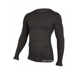 TEE-SHIRT TECHNICAL M.LONGUES COL ROND NOIR - Taille S