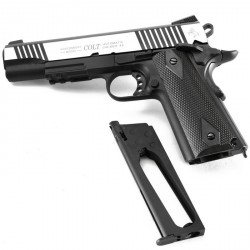 Colt 1911 rail gun CO2 bicolore noir/inox