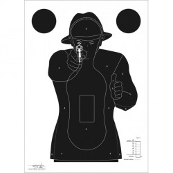 Cibles silhouette police 51x71cm