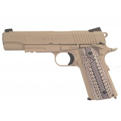 Colt 1911 rail gun CO2 tan