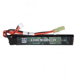 Batterie Lipo 101INC 7.4V -1300 mAh Stick