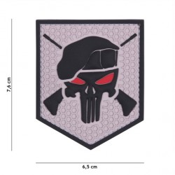 "Patch 3D PVC ""Commando Punisher"" - Gris"