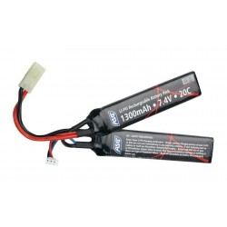 Batterie LIPO 7.4V 1300MAH 20C Double Stick - ASG