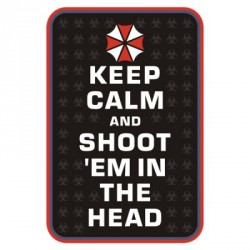 "Patch 3D PVC ""Keep Calm and Shoot"""