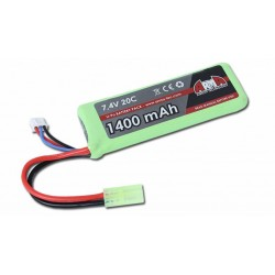 Batterie LIPO 7.4V 1400MAH 20C MINI TYPE